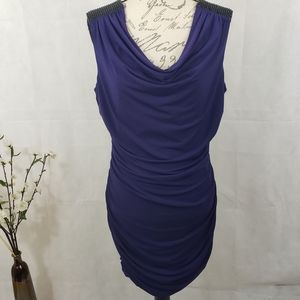 BCX Purple Sleeveless Bodycon Mini Dress
